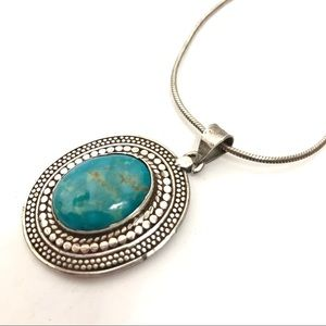 Sterling Silver Turquoise Southwestern Necklace